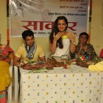 Official SAKAR Website Launch - Marathi actors Pushkar Shrotri, Umesh Kamat and Spruha Joshi pay a social visit to SAKAR (2)