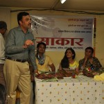 Official SAKAR Website Launch - Marathi actors Pushkar Shrotri, Umesh Kamat and Spruha Joshi pay a social visit to SAKAR (3)